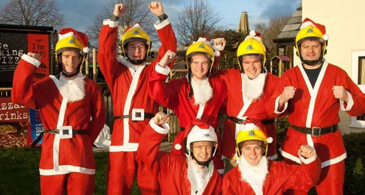 Cheshire firefighters in Santa suits