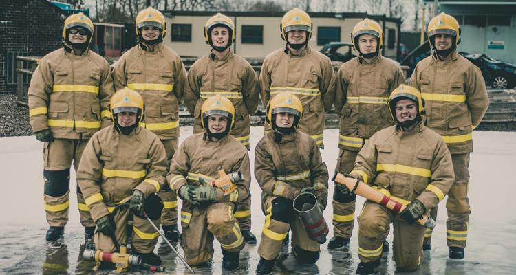 Trainee firefighters