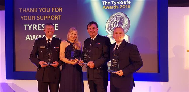 Cheshire Fire and Rescue Service have received a national award for their tyre safety checks.