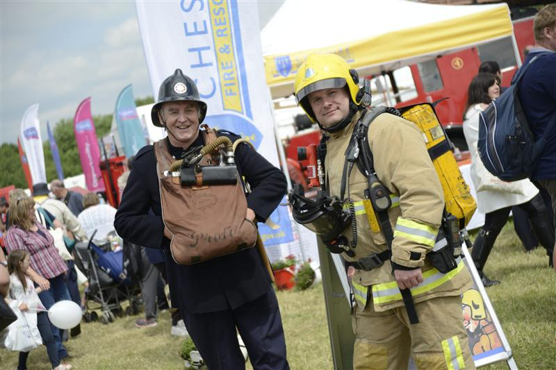 Firefighters at the Cheshire Show 2015
